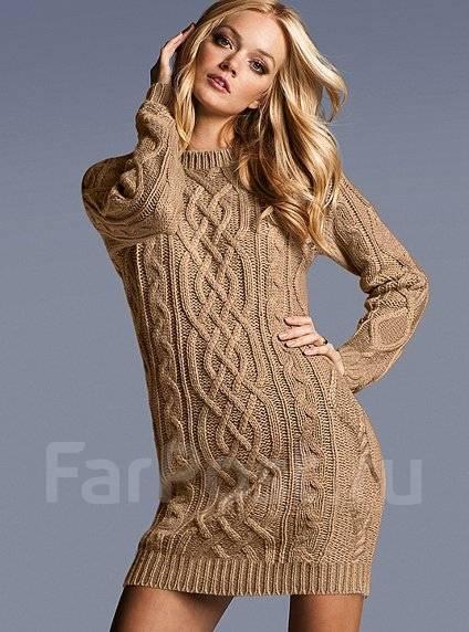 Вязаное платье крупная вязка купить