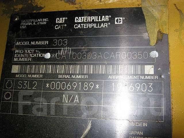 Caterpillar 303CR. Экскаватор гусеничный с отвалом , 2007 г. в., 0,15куб. м.
