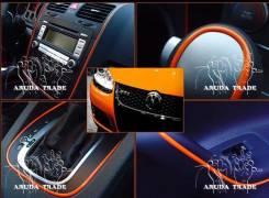 Оранжевый виниловый молдинг для отделки салона и кузова. Toyota Super