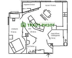 2-комнатная, Крыгина 42. Эгершельд, агентство, 74,0кв.м. План квартиры