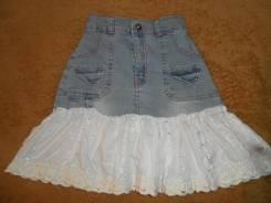 Юбки джинсовые. Рост: 110-116 см