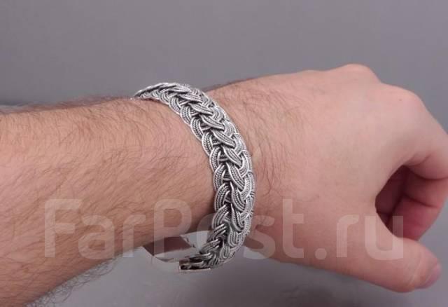 Браслет для мужчины из серебра цена