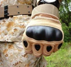 """Тактические перчатки """"Oakley"""" беспалые - цвет песочный."""