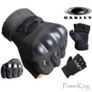 """Тактические перчатки """"Oakley"""" беспалые - цвет черный."""