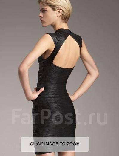 Herve leger черное платье