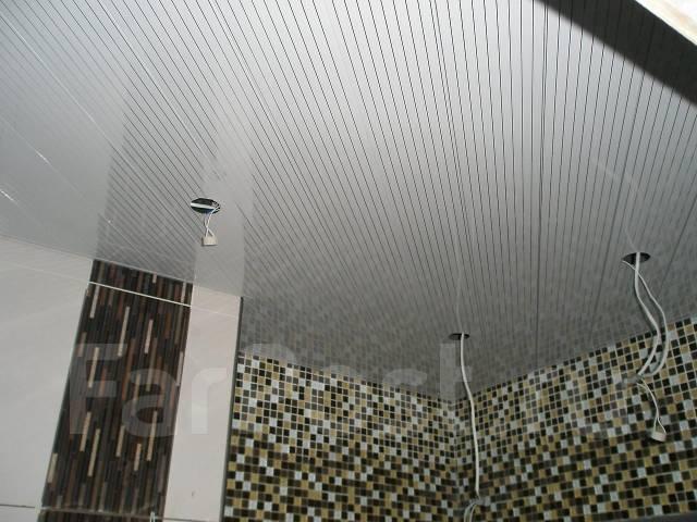 Потолки ячеистые.