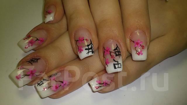 Дизайн на ногтях сакура