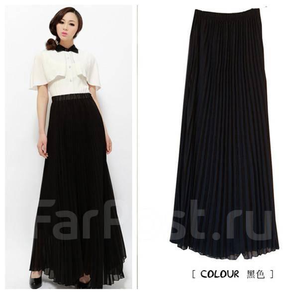 Черная юбка плиссе купить