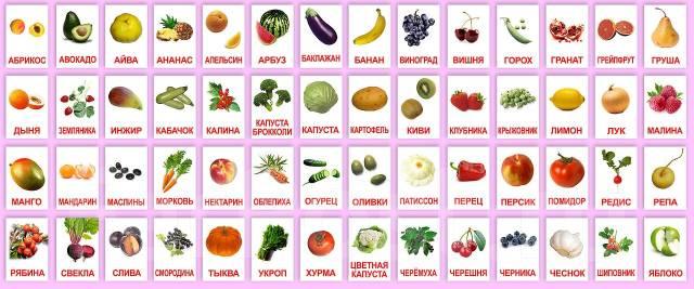 картинки ягоды фрукты овощи