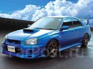 Накладка на бампер. Subaru Impreza WRX STI, GD, GDB. Под заказ