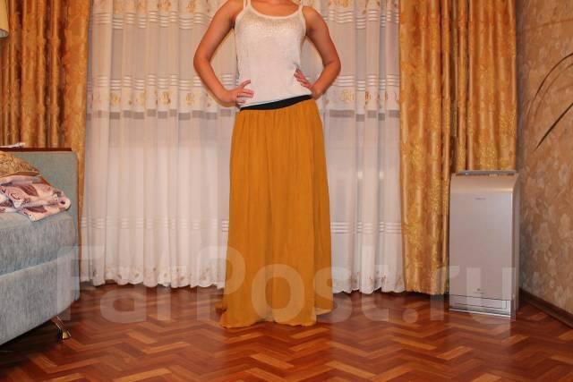 Длинные юбки горчичный цвет