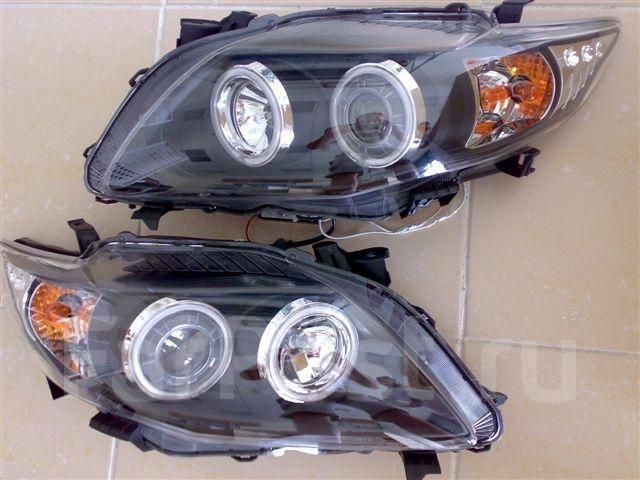 фары евросвет с автокорректором mazda familia - wingroad y11 series