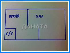 Гостинка, Калинина 283. Чуркин, агентство, 24,0кв.м. План квартиры