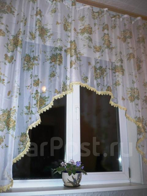 шторы-арки на кухню фото