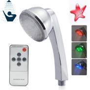 Цветной LED душ с Пультом ДУ и сенсором температуры, возмож. и Почтой