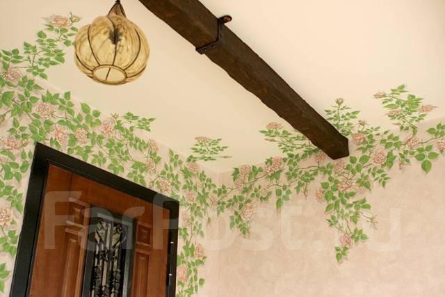 Художественная роспись и фреска любой сложности!. Тип объекта дом, коттедж и любая поверхнасть, срок выполнения неделя