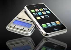 Электронные карманные ВЕСЫ, стилизованы под iPhone, особоточные 0.01гр