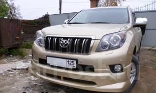 Накладка на бампер. Toyota Land Cruiser Prado, GDJ150, GDJ150L, GDJ150W, GRJ150, GRJ150L, GRJ150W, GRJ151W, KDJ150, KDJ150L, LJ150, TRJ120, TRJ150, TR...