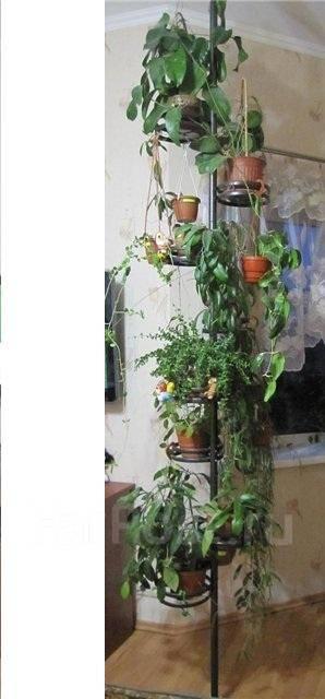 Стойка распорная для комнатных растений пол потолок