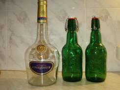 Бутылки декоративные.