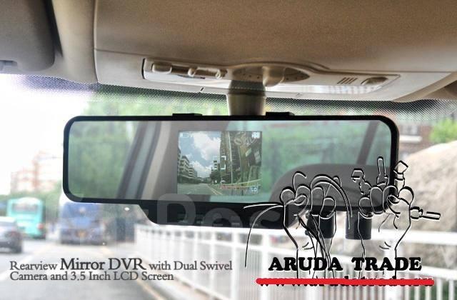 Видеорегистратор зеркало с двумя камерами