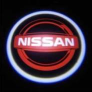 Проекция логотипа в двери авто Nissan
