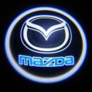 Проекция логотипа в двери авто Mazda