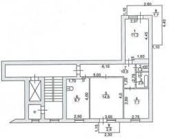 3-комнатная, Халтурина. Кучурда, частное лицо, 60кв.м. План квартиры