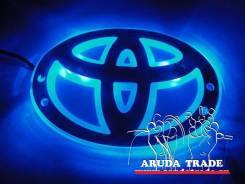 Подсветка под логотип, эмблему Toyota (Тойота) Синий (Отправка по РФ). Toyota: Town Ace, Regius Ace, Hiace, Master Ace Surf, Cressida