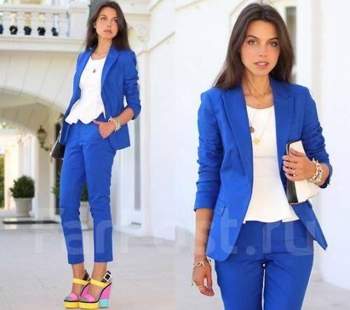 синий пиджак женский фото