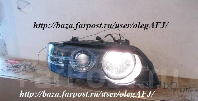 Фары линзовые, диодные, тюнинг, черные для BMW X5 c 2001 г. и выше. BMW X5, E53 Двигатели: M54B30, M62B44TU