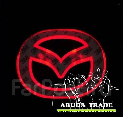 Подсветка под логотип, эмблему Mazda (Мазда) Красный (Отправка по РФ)