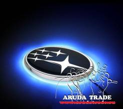 Подсветка под логотип, эмблему Subaru (Субару) Синий 140 мм x 73 мм