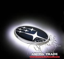Подсветка под логотип, эмблему Subaru (Субару) Белый 140 мм x 73 мм