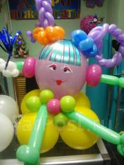 Цветы из шаров, композиции! Красиво, оригинально, воздушно!