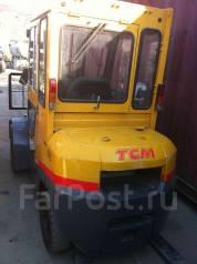 TCM FHD30T3. Японский вилочный погрузчик TCM, 2006г, дизель Kubota 3,3л, кабина, 2 700кг., Дизельный
