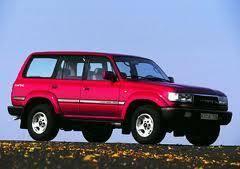 Ветровик на дверь. Toyota Land Cruiser, FZJ80