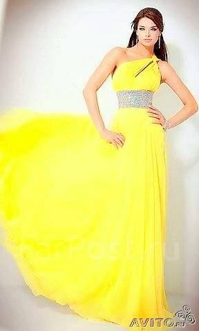 Платье неоново желтого цвета