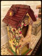 Домик для чайный пакетов, подарок из дерева. Под заказ