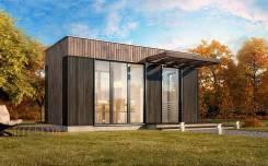Гостевой дом из СИП-панелей. до 100 кв. м., комбинированный