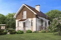 Проект дома из СИП-панелей Оптима. 100-200 кв. м., 2 этажа