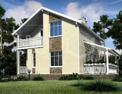 Проект дома из СИП-панелей Акцент. Хит продаж!. до 100 кв. м., 2 этажа