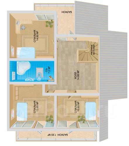 Эльбрус. 100-200 кв. м., 2 этажа