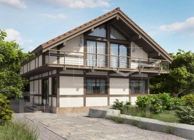 Проект дома из СИП-панелей Памир. 100-200 кв. м., 2 этажа