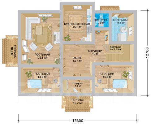 Империя. 200-300 кв. м., 2 этажа