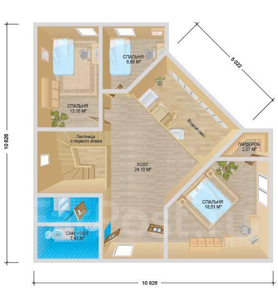 Твин. 200-300 кв. м., 2 этажа