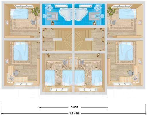 Дюплекс. 100-200 кв. м., 2 этажа