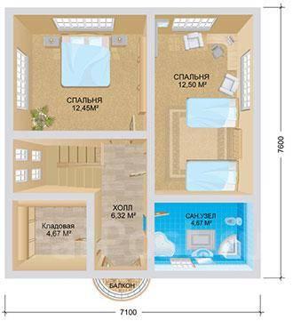 Сканди. 100-200 кв. м., 2 этажа