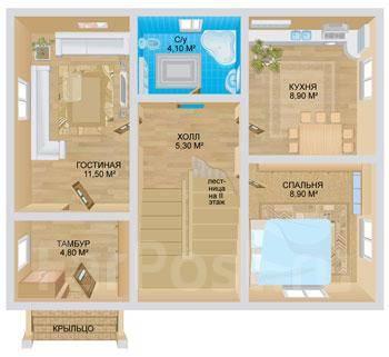 Стоун. 100-200 кв. м., 2 этажа