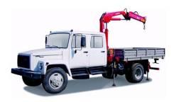 "ГАЗ 3309. Кран-манипулятор ""Газон"" с двухрядной кабиной, 4х2, 4 750куб. см., 3 600кг."